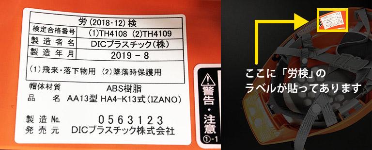 防災用折りたたみヘルメット IZANO(イザノ)の労検