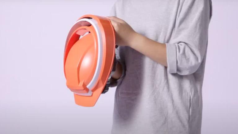 防災用折りたたみヘルメット IZANO(イザノ)の組み立て方